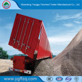 Koolstofstaal 3/4 Semi Aanhangwagen van de Stortplaats/van de Kipper van de As Op zwaar werk berekende voor Vervoer van de Mijn van het Mineraal/van het Ijzer/van de Steen/van het Zand