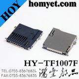 T de memória Micro SD Conector de cartão Flash TF Conector da Placa Móvel para (HY-TF1007F)