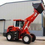 Veranschlagte 2 Tonnen-Cer-mini kleine Vorderseite-Rad-Dieselladevorrichtung mit Schnee-Gebläse
