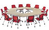 Sectionele Folding Office Furniture Set, Movable Training Table, Ronde Tafel Conferentie