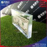 Frame acrílico do dinheiro do estilo popular dos lados da fábrica 2
