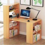 Дешевые компьютерный стол из дерева в книжном шкафу