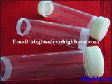 Surtidor del tubo de cristal de cuarzo de la rosca de tornillo de la pureza elevada