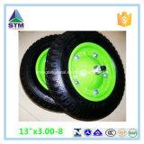 Roda de borracha pneumática do Wheelbarrow de China de 10 polegadas