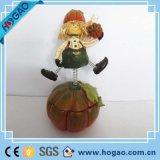 Handmade Artificial Halloween resina Pumpkins Figurine para venda