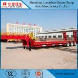 Heavy Duty 60t Lowbed semi-remorque de camion long pour le transport du véhicule