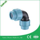 Acessórios de compressão de PE Tamanhos de tubo de polipropileno Calças de polipropileno