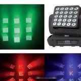 Matrice de LED 2015 Nouveau 25X12W 25 yeux Déplacement du faisceau de la tête de la matrice d'éclairage LED