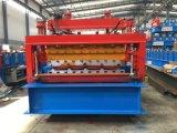 使用されるパネルの機械装置を形作る二重Deckingの圧延に屋根を付ける
