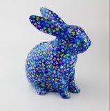 가득 차있는 전사술 사랑스러운 토끼 심상 저축 동전 은행은 주문 설계한다