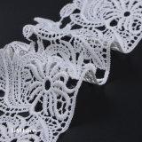garniture de lacet de 9cm, lacet nuptiale, garniture à crochet de lacet, lacet de cru, lacet brodé, lacet de mariage de Scollaped