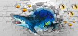 Impressão de tamanho personalizado Papel de parede 3D Vinil adesivo autoadhesivo