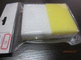 노란 색깔 사각 청소 거품 청소 제품