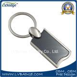 Anel de chave metálico em branco para logotipo laser