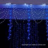 Luz da cortina do diodo emissor de luz do estágio da decoração da festa de Natal