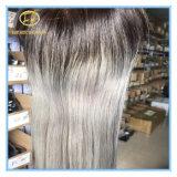 Der Qualitäts-Schliessen große Aktien-2tone Omber 1b/Grey Farben-gerades der Spitze-4*4 mit Fabrik-Stück Clc-002