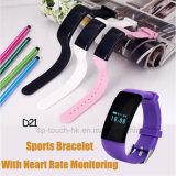 De Slimme Armband van sporten met de Monitor van het Waterdichte en Tarief van het Hart D21