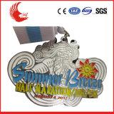 Medalla plateada plata de encargo del metal del alto grado