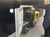 十分に熱い浸された電流を通された移動式食糧トラックのトレーラーヴァン