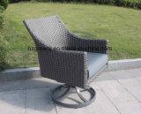 muebles de mimbre planos de la curva de la media luna 0040 de 10m m con el amortiguador de asiento del espesor