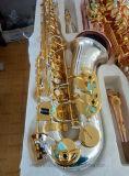 Corps plaqué Saxophone-Silver Selmer alto Clé plaqué or