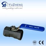 Válvula de bola de acero al carbono Hex 2000WOG
