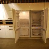 Novo design do armário de cozinha com Metal realce da pintura