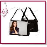 黒いカラー昇華中間のサイズのキャンバスのショルダー・バッグ