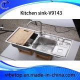 Évier en acier inoxydable pour articles de cuisine et appareils ménagers