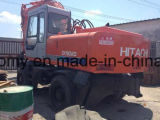 Utilisé Japan-Make 0.6cbm/16tonne 6 cylindres Isuzu-Engine Hydraulic-Pump Hitachi EX160WD Excavatrice de pneu