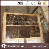 Mattonelle di marmo scure di Emperador per il pavimento o la parete