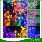 20/30/50 di indicatore luminoso leggiadramente solare della stringa del fiore della pesca del LED