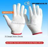 K-72 Un deux côtés en pointillés de la sécurité de travail des gants de coton tricotés