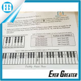プラスチックRemovable Waterproof PianoおよびKeyboard Label Transparent Sticker