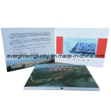 "Fábrica 2.4 "" 2.8 "" /3.5 "" /4.3 "" /7 "" e 10.1inch LCD Video Brochure com Custom Printing"