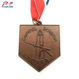 Customized Wooden Boat Pattern Medal Metal
