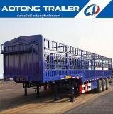 40FT 가축 트레일러 또는 반 동물 수송 담 트레일러