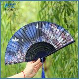 絹の花のダンスは中国型豪華な折る手のファンに送風する