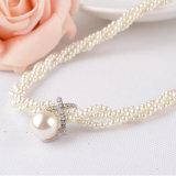 Anweisung-Frauen-Mädchenchoker-klumpige simulierte Perlen-Halskette