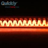 Elemento de aquecimento por infravermelhos de fibra de carbono para a alimentação da lâmpada de IV a cozedura