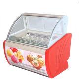Gelato Eiscreme-Bildschirmanzeige-einfrierender Schaukasten mit LED-Beleuchtung
