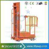 máquina hidráulica semi eléctrica del carro del recogedor de la orden del móvil de los 3m a de los 4.5m