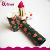 Resistente al agua roja pintalabios labios maquillaje con paquete de papel