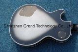 Loja personalizada de burst de Prata Borda Preta Lp guitarra eléctrica / Instrumentos musicais de alta qualidade (BPL-134)