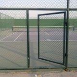 テニスコートのためのPE上塗を施してあるチェーン・リンクの塀の金網