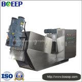 La prensa de tornillo Certificado CE de la desecación de la máquina en el proyecto de tratamiento de aguas residuales