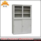 Стеклянный шкаф хранения металла раздвижной двери