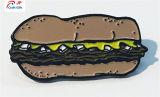 Personnaliser la forme du hamburger de haute qualité de l'épinglette