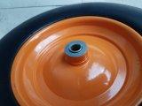 Boîtier robuste en métal de la jante de roue en caoutchouc mousse de PU 4.00-8