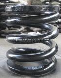 Muelle de acero inoxidable negro para la construcción de la máquina